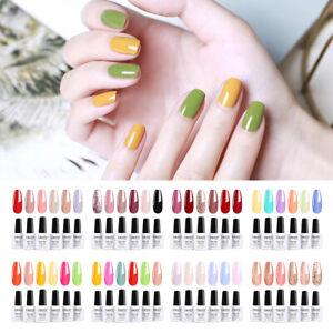 Elite99 6pcs Colour UV Gel Nail Polish Nude Manicure Starter Kits Set Gift DIY