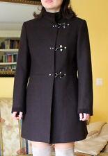 FAY by TOD`S VIRGINIA Coat Mantel Statement Jacke 100% Wolle Braun L NEUw