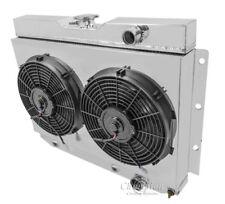 Kingswood 2 Row Radiator, Aluminum Fan Shroud, Fan(s) & Relay Wiring Kit