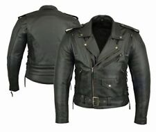 Men's Leather Motorcycle Jackets with CE Approved Armour