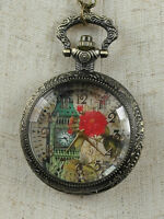 Steampunk Big Ben Watch Necklace Pendent Pocket Watch Charm Gothic Jewellery