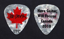 Aerosmith Joe Perry Signature White Pearl Guitar Pick - 2010 Canada Solo Tour