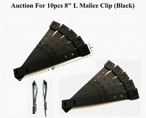 """10 x Tactical Tailor - Short 8"""" Black MALICE Clips For GERBER,BUCK Knife Pouch !"""