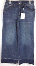 LC LAUREN CONRAD Women's Wide Leg Crop Denim Jean Release Hem NEW $50 Size: 2
