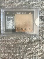 "2020 PIECES OF THE PAST BABE RUTH 1/1 ""JUMBO"" MITT RELIC CARD"