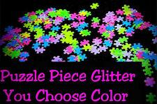 PUZZLE PIECE Shape Glitter~U Pick~Nail•Acrylic•Gel•Body Art•Face•Festival•Craft