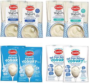 EasiYo Yogurt 8 Sachet Pack | EasiYo Wellbeing Mixed Pack | 2 x Greek Style 2 x