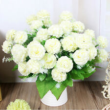 Artificial White Hydrangea 8 Heads Party Wedding Fake Bridal Bouquet Silk Flower