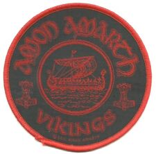 AMON AMARTH vikings 2011 -  circular WOVEN SEW ON PATCH official merchandise