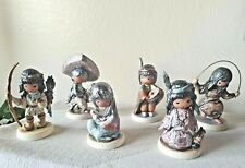 Lot of 6 Goebel Aow The Children of DeGrazia Indian Figurines, W. Germany Signed