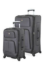 Swissgear 6283 Expandable 2pc Spinner Luggage Set - Dark Gray
