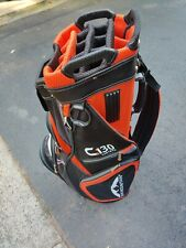 New listing Sun Mountain C130 Golf Cart Bag Black/Orange 14 Way -Super Clean