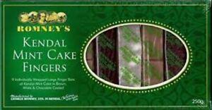 Kendal Mint Cake Romney's Kendal Mintcake Fingers Trio Selection Box  250g