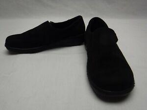 Dr Scholls Womens Size 8.5 Wide Width Comfort Shoes Black EUC