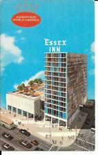 Postcard Illinois Chicago Essex Inn Motel Chrome Unposted Retro Americana