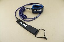 Surf More Xm Sup Coiled Ankle Leash Blue & Purple 9' Ships Free