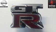 NEU Original Nissan GT-R R35 Kühlergrill Abzeichen Emblem Namensschild