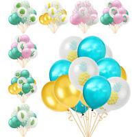 "15pcs 12"" Flamingo Cactus Pineapple Latex Balloon Birthday Wedding Party Decor"