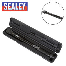 """Sealey BLACK 3/8"""" Sq Drive Calibrated Torque Wrench 7Nm-112Nm With Case AK623B"""