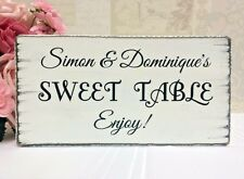 Personalised Wedding Sign Sweet Table Free Standing Vintage Wedding Chic Sign