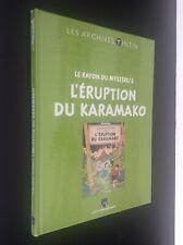 Archives Hergé L'éruption du karamako sous cello jamais ouvert ETAT NEUF