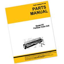 Parts Manual John Deere Fb168c Fb208c Df208c Fertilizer Grain Drill Catalog Seed