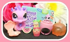 ❤️Authentic Littlest Pet Shop LPS #705 #1-B26 Mommy Baby Pink Seahorse Ring❤️