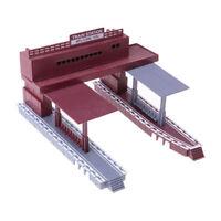 HO Scale Building 1/87 Gauge Model Train Railway Layout Shelter Station Toys Hot