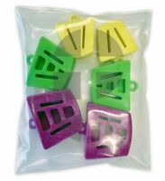 Assorted Sizes Autoclave Mouth Silicone Props Bite Blocks Dental (Bag of 6)