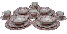 Johnson Brothers OLD BRITAIN CASTLES PINK 20 Pc Dinnerware Set for 4 - NEW/BOX!