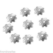 50 Perles Coupelles Calotte Acier inoxydable Création DIY 7x1.5mm