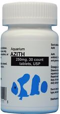 Fish Azith, 250mg. 30 count. USP antibiotic water treatment