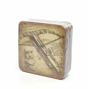 "Carmani Painters 9-pc Set of ""Mechanical inventions"" Coasters, Da Vinci Series"
