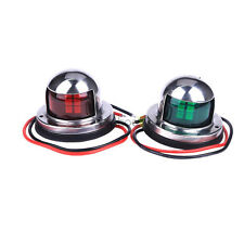 Marine Boat Pontoons Yacht Light Stainless Steel LED Bow Navigation Lights top