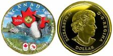 2016-CANADIAN OLYMPIC & PARALYMPIC GAMES Lucky LOONIE PLATED GOLD 24k