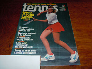 "VINTAGE "" TENNIS "" MAGAZINE - MAY 1983 - ANDREA JAEGER COVER"