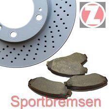 Zimmermann Discos freno deportivos 314mm + FORROS DE DELANTERO AUDI A4 A5 PR