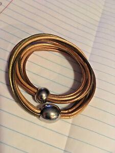 Multi Strand Women's Leather Bracelet Magnetic Closure.Colors:gold,bronze,grn