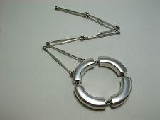"Georg Jensen Astrid Fog Pendant Necklace #137 Sterling Silver 925 25.98"""