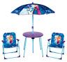 Enfants Disney Frozen Jardin Picnic Chaise Table & Parasol Parasol Parapluie Set