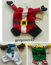 Front Leg Dog Holiday Christmas Red Santa, Elf & Snowman Costume S M L Pet Puppy