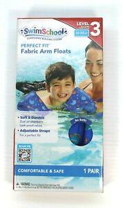 🔥🔥Swim School Soft Fabric Arm Floats | Adjustable 30-50 LBS Water Wings - BLUE