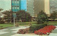 Pittsburgh Pennsylvania~Equitable Plaza~Garden Hedge~1960s Postcard