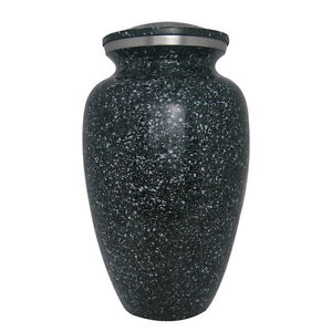 Marble Green Aluminium Urn for Adult Cremation Ashes