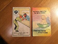 Vintage Comic Postcards HUMOR from 40s 50s, Water Sports and Military