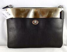 Coach Legacy Turnlock Mirror Metallic Leather Crossbody Bag 50380