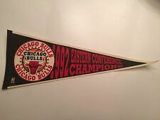 Vintage 1992 CHICAGO BULLS Eastern Conference Champions Pennant Michael Jordan