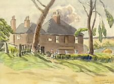 Walter Cristall, Old Redding,Pinner, Middlesex – 1946 watercolour painting