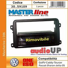 MASCHERINA AUTORADIO 1 DIN VOLKSWAGEN PASSAT VARIANT 05-> CASSETTO RIMOVIBILE