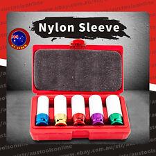 """Deep Impact Nut Socket Set 1/2"""" Long Colorful Nylon Sleeve 5pcs for Alloy Wheel"""